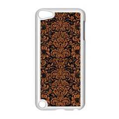 Damask2 Black Marble & Rusted Metal (r) Apple Ipod Touch 5 Case (white)
