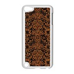 DAMASK2 BLACK MARBLE & RUSTED METAL (R) Apple iPod Touch 5 Case (White) Front