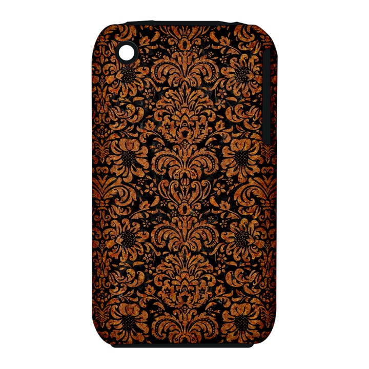 DAMASK2 BLACK MARBLE & RUSTED METAL (R) iPhone 3S/3GS
