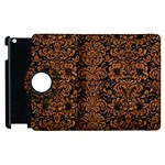 DAMASK2 BLACK MARBLE & RUSTED METAL (R) Apple iPad 3/4 Flip 360 Case Front