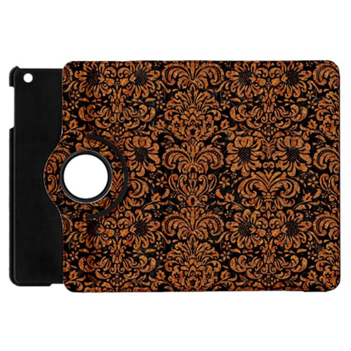 DAMASK2 BLACK MARBLE & RUSTED METAL (R) Apple iPad Mini Flip 360 Case