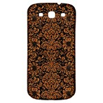 DAMASK2 BLACK MARBLE & RUSTED METAL (R) Samsung Galaxy S3 S III Classic Hardshell Back Case Front