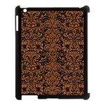 DAMASK2 BLACK MARBLE & RUSTED METAL (R) Apple iPad 3/4 Case (Black) Front