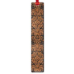 Damask2 Black Marble & Rusted Metal (r) Large Book Marks