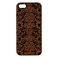 Damask2 Black Marble & Rusted Metal (r) Apple Iphone 5 Premium Hardshell Case