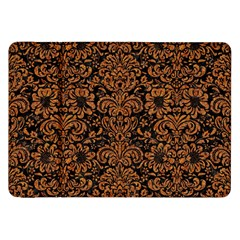 Damask2 Black Marble & Rusted Metal (r) Samsung Galaxy Tab 8 9  P7300 Flip Case