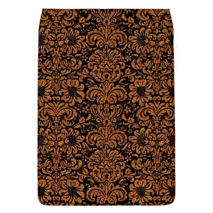 DAMASK2 BLACK MARBLE & RUSTED METAL (R) Flap Covers (L)