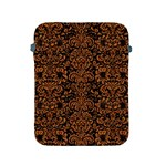 DAMASK2 BLACK MARBLE & RUSTED METAL (R) Apple iPad 2/3/4 Protective Soft Cases Front