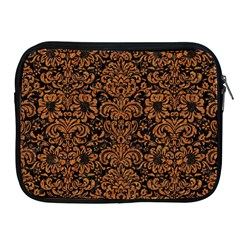 Damask2 Black Marble & Rusted Metal (r) Apple Ipad 2/3/4 Zipper Cases