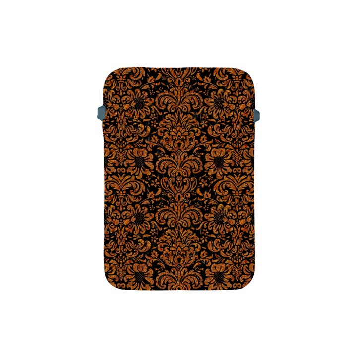 DAMASK2 BLACK MARBLE & RUSTED METAL (R) Apple iPad Mini Protective Soft Cases