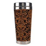 DAMASK2 BLACK MARBLE & RUSTED METAL (R) Stainless Steel Travel Tumblers Left