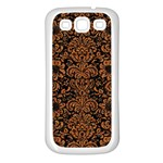 DAMASK2 BLACK MARBLE & RUSTED METAL (R) Samsung Galaxy S3 Back Case (White) Front