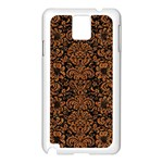 DAMASK2 BLACK MARBLE & RUSTED METAL (R) Samsung Galaxy Note 3 N9005 Case (White) Front