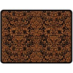 DAMASK2 BLACK MARBLE & RUSTED METAL (R) Double Sided Fleece Blanket (Large)  80 x60 Blanket Front