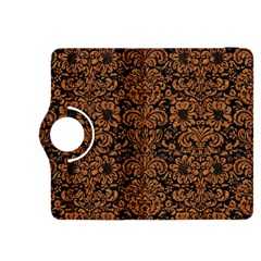 Damask2 Black Marble & Rusted Metal (r) Kindle Fire Hdx 8 9  Flip 360 Case