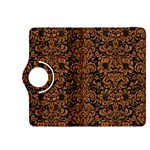 DAMASK2 BLACK MARBLE & RUSTED METAL (R) Kindle Fire HDX 8.9  Flip 360 Case Front