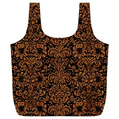 Damask2 Black Marble & Rusted Metal (r) Full Print Recycle Bags (l)