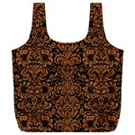 DAMASK2 BLACK MARBLE & RUSTED METAL (R) Full Print Recycle Bags (L)  Front