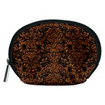 DAMASK2 BLACK MARBLE & RUSTED METAL (R) Accessory Pouches (Medium)  Front