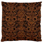 DAMASK2 BLACK MARBLE & RUSTED METAL (R) Large Flano Cushion Case (One Side) Front