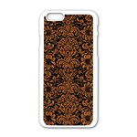 DAMASK2 BLACK MARBLE & RUSTED METAL (R) Apple iPhone 6/6S White Enamel Case Front