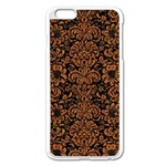 DAMASK2 BLACK MARBLE & RUSTED METAL (R) Apple iPhone 6 Plus/6S Plus Enamel White Case Front