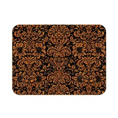 Damask2 Black Marble & Rusted Metal (r) Double Sided Flano Blanket (mini)