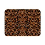 DAMASK2 BLACK MARBLE & RUSTED METAL (R) Double Sided Flano Blanket (Mini)  35 x27 Blanket Front