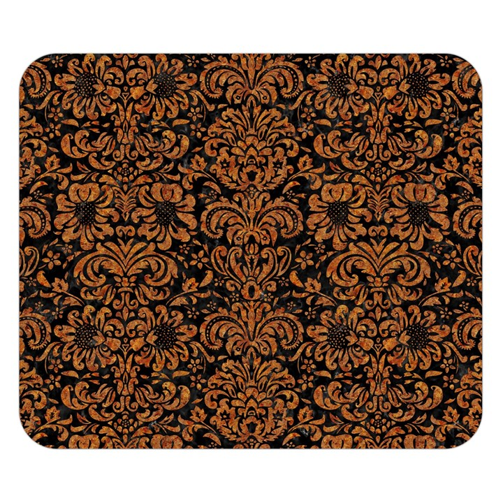 DAMASK2 BLACK MARBLE & RUSTED METAL (R) Double Sided Flano Blanket (Small)