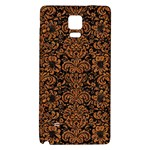 DAMASK2 BLACK MARBLE & RUSTED METAL (R) Galaxy Note 4 Back Case Front