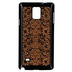 DAMASK2 BLACK MARBLE & RUSTED METAL (R) Samsung Galaxy Note 4 Case (Black) Front