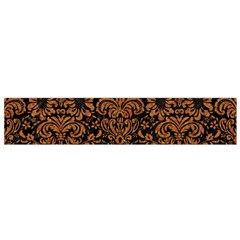 Damask2 Black Marble & Rusted Metal (r) Flano Scarf (small)