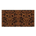 DAMASK2 BLACK MARBLE & RUSTED METAL (R) Satin Shawl Front