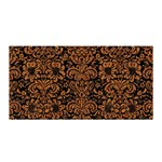 DAMASK2 BLACK MARBLE & RUSTED METAL (R) Satin Wrap Front
