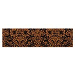 DAMASK2 BLACK MARBLE & RUSTED METAL (R) Satin Scarf (Oblong) Front