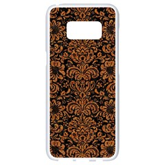 Damask2 Black Marble & Rusted Metal (r) Samsung Galaxy S8 White Seamless Case