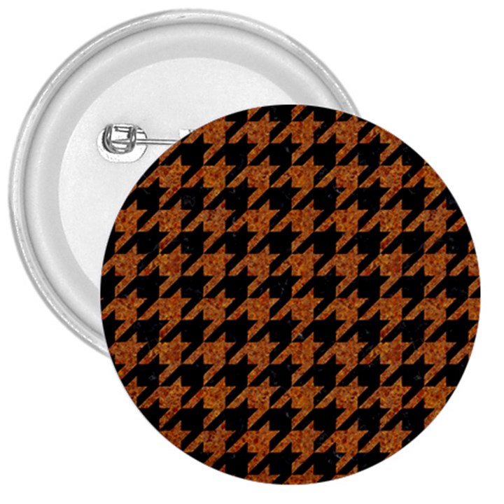 HOUNDSTOOTH1 BLACK MARBLE & RUSTED METAL 3  Buttons