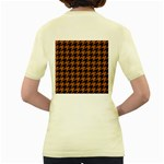 HOUNDSTOOTH1 BLACK MARBLE & RUSTED METAL Women s Yellow T-Shirt Back