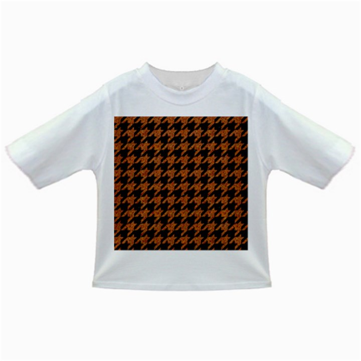 HOUNDSTOOTH1 BLACK MARBLE & RUSTED METAL Infant/Toddler T-Shirts