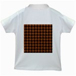 HOUNDSTOOTH1 BLACK MARBLE & RUSTED METAL Kids White T-Shirts Back