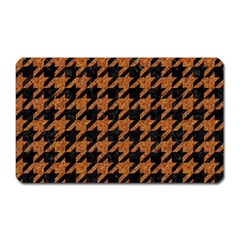 Houndstooth1 Black Marble & Rusted Metal Magnet (rectangular)