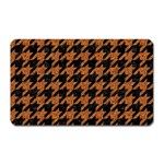 HOUNDSTOOTH1 BLACK MARBLE & RUSTED METAL Magnet (Rectangular) Front