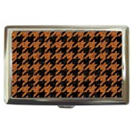 HOUNDSTOOTH1 BLACK MARBLE & RUSTED METAL Cigarette Money Cases Front