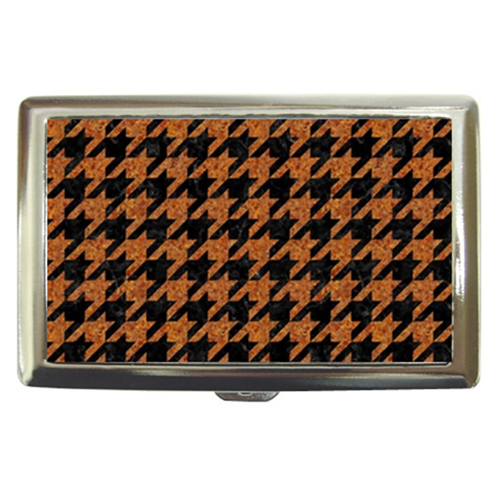 HOUNDSTOOTH1 BLACK MARBLE & RUSTED METAL Cigarette Money Cases