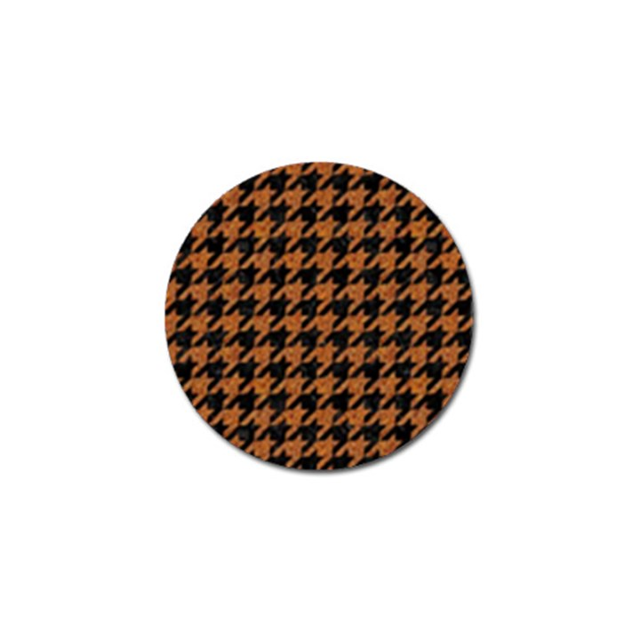 HOUNDSTOOTH1 BLACK MARBLE & RUSTED METAL Golf Ball Marker (10 pack)