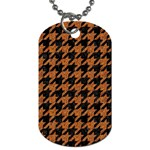 HOUNDSTOOTH1 BLACK MARBLE & RUSTED METAL Dog Tag (Two Sides) Back