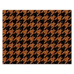 HOUNDSTOOTH1 BLACK MARBLE & RUSTED METAL Rectangular Jigsaw Puzzl Front