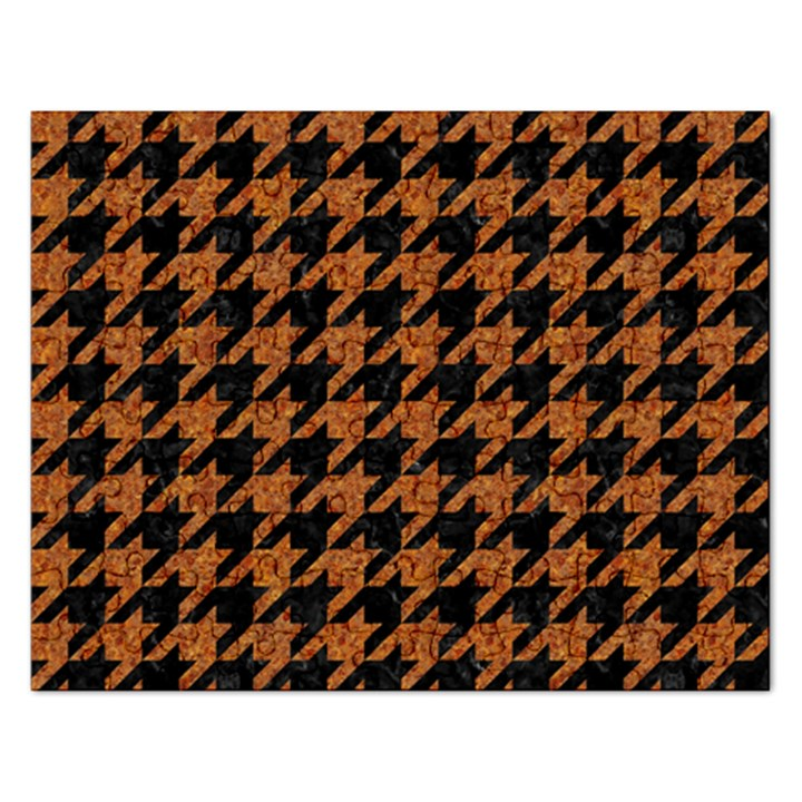 HOUNDSTOOTH1 BLACK MARBLE & RUSTED METAL Rectangular Jigsaw Puzzl