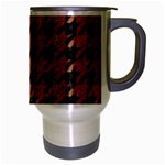 HOUNDSTOOTH1 BLACK MARBLE & RUSTED METAL Travel Mug (Silver Gray) Right