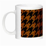 HOUNDSTOOTH1 BLACK MARBLE & RUSTED METAL Night Luminous Mugs Left